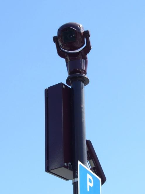 A central Queenstown CCTV camera. Photo by Christina McDonald.