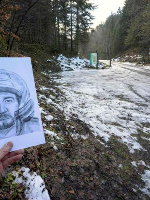 A composite drawing of an unidentified motorcyclist released by the French police last year....