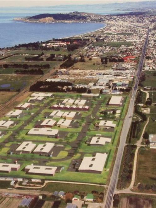 A computer-generated image of Nikken Seil's business park, opposite the Oamaru racecourse. Image...