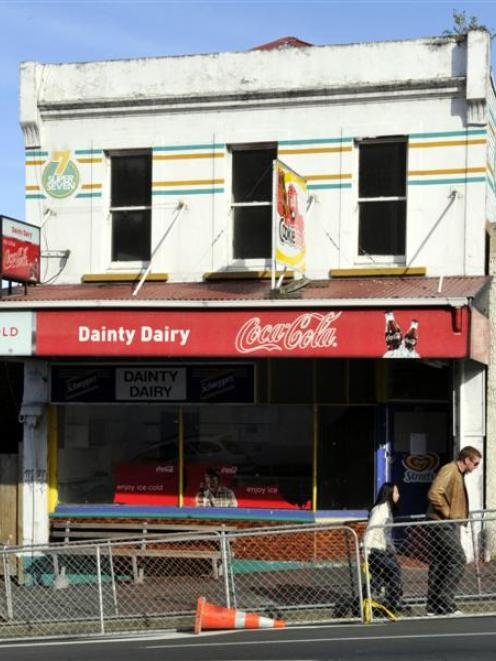 A dangerous building notice has been issued for the Dainty Dairy building.