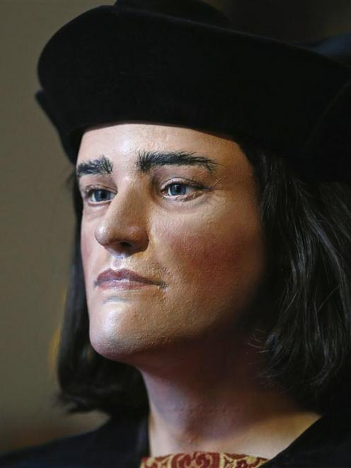 A facial reconstruction of King Richard III based on a CT scan of human remains found in a...