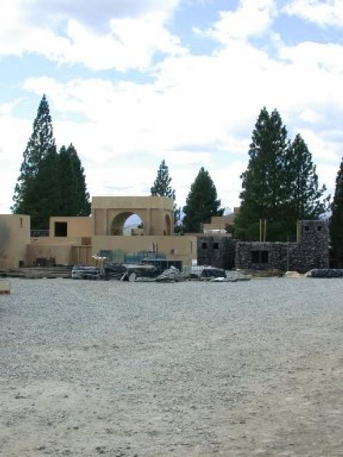 A film set, recreating a Galilee fishing village at Falstone Reserve, on the shore of Lake...