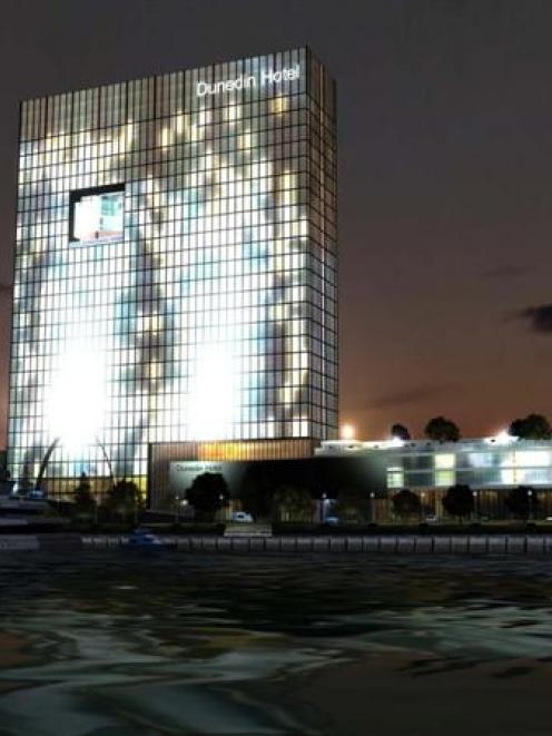A graphic of the proposed Waterfront Hotel. Photo supplied.
