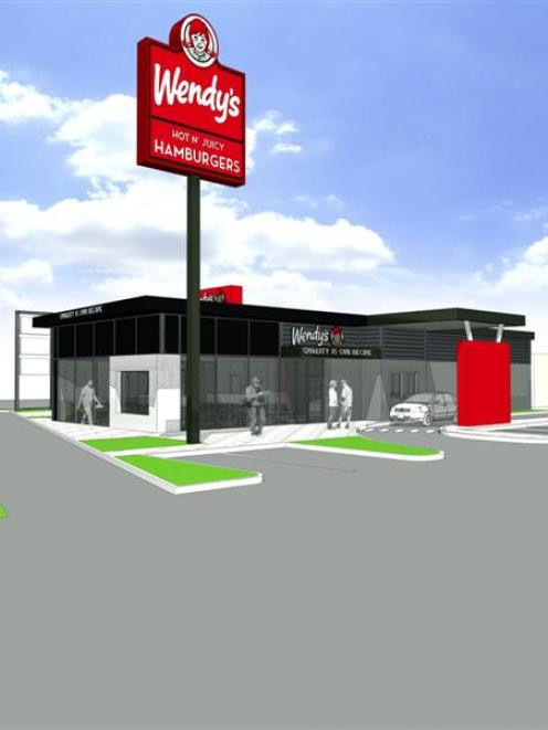 A graphic representation of the new Wendy's outlet on Andersons Bay Rd in South Dunedin. Photo...