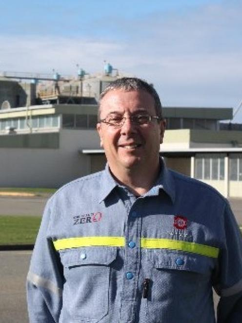 A happy New Zealand Aluminium Smelters chairman Brian Cooper outside the Tiwai Point smelter...