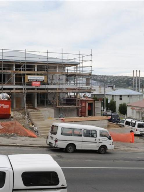 A house under construction in Clyde St, Dunedin. Photo by Craig Baxter.