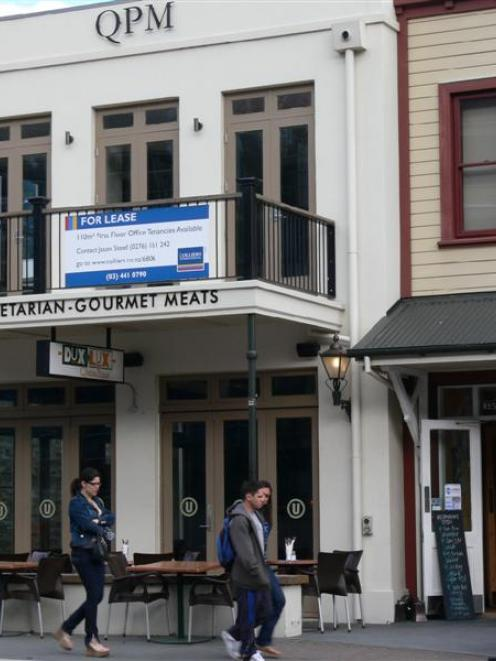 A lack of customers has resulted in Queenstown's Dux de Lux restaurant going on the market. Photo...