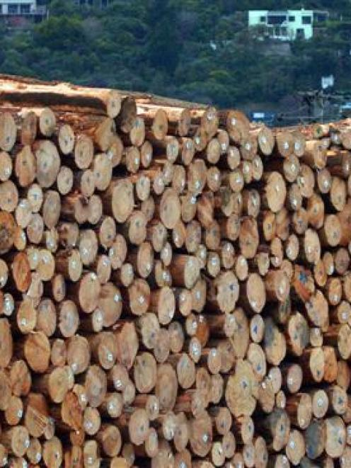 A large fall in log prices contributed to a fall in the price of exported goods. Photo by Gerard...