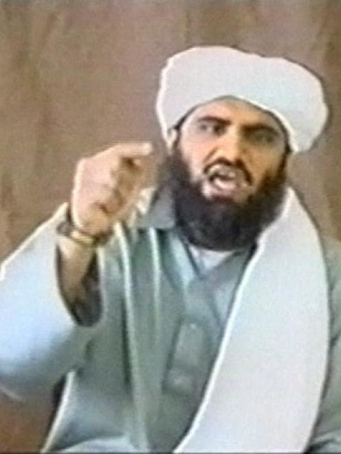 A man identified as Suleiman Abu Ghaith appears in this still image taken from an undated video...