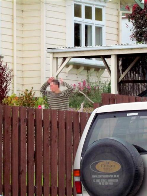 A man is apprehended by police in Oamaru, following reports of a robbery at knifepoint at the...