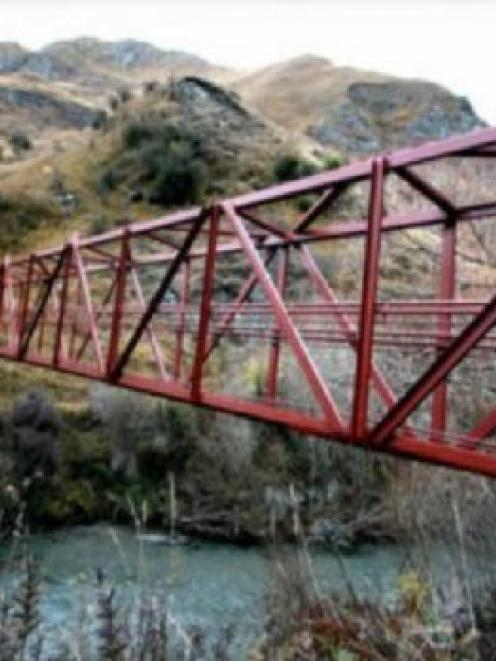 A new footbridge over the Arrow River near Arrowtown installed last year by John Mowatt and...