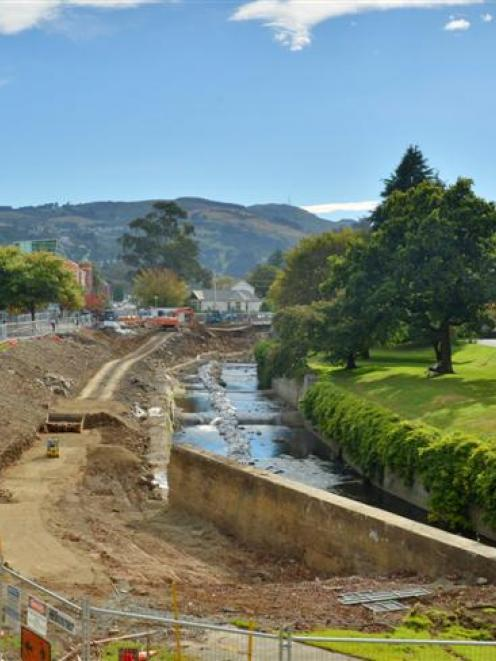 A new northward vista is emerging as flood protection work continues on the west bank of the...