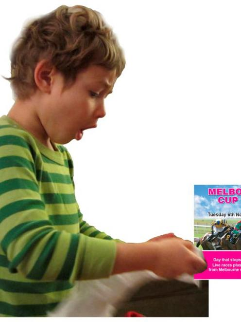 A photo of Rowan, from Chicago, is paired with a picture of a Melbourne Cup Day booklet. Photos...