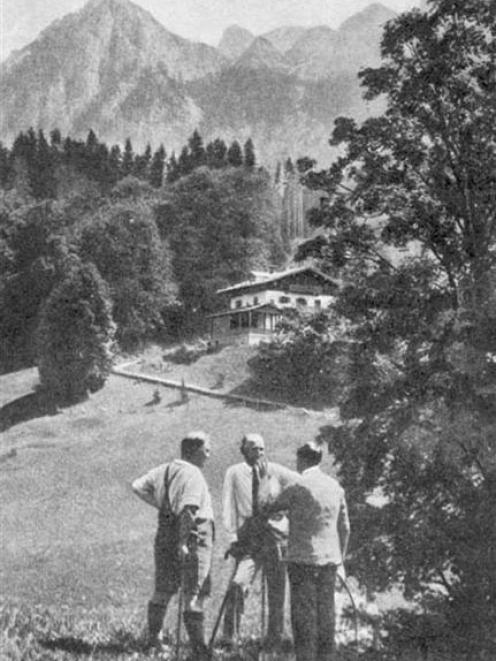 A picture of Hitler and friends from a 1938 English Homes and Gardens magazine.