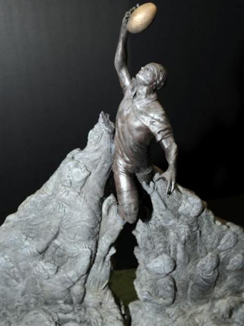 A proposed Weta design for a statue for the Rugby World Cup. Photo by NZPA.