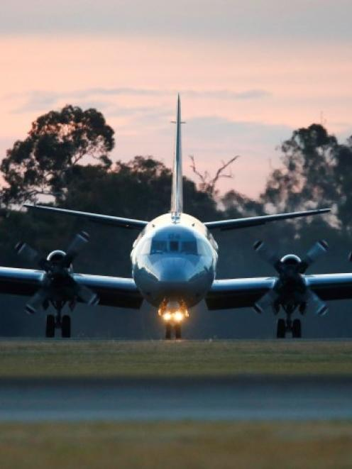 A Royal New Zealand Air Force P-3K2 Orion aircraft lands at the RAAF Base Pearce near Perth...