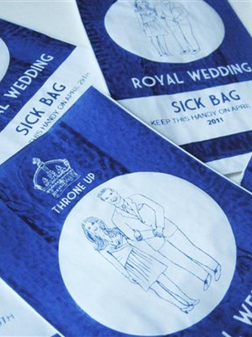 A Royal Wedding souvenir for those who are less that enthusiastic about the forthcoming wedding...