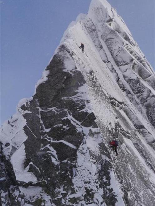 A scene from the New Zealand Mountain Film Festival's grand prize-winning film Footprints on the...