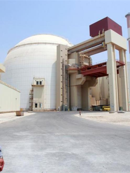 A security official in front of Bushehr main nuclear reactor, 1200 km south of Tehran REUTERS...