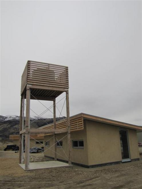 A solar-powered pump keeps the water tank topped up. Photos by Mark Price.