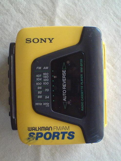 A Sony Walkman from the early 1990s.