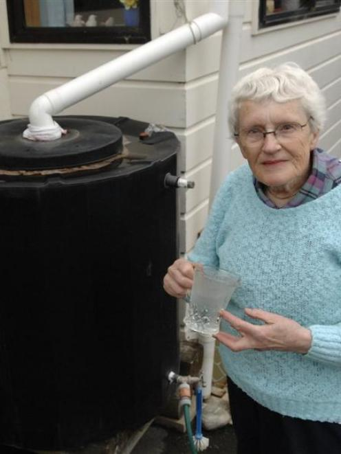 A system that works? Dunedin woman Lyndall Hancock says rooftop rainwater harvesting should be...