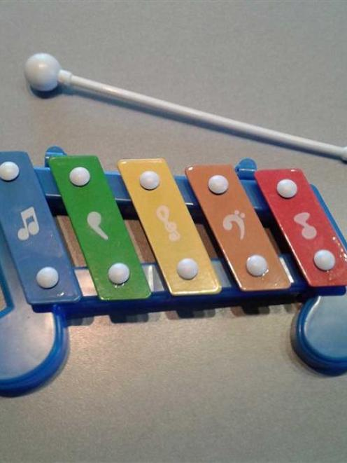 A tink-tonk xylophone. Photo by Roy Colbert.