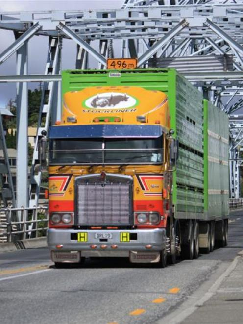 A truck crosses the Alexandra Bridge, which  will be strengthened  to allow heavier vehicles to...