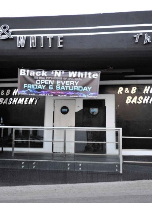 A view of a Cypriot nightclub where an off-duty British soldier was stabbed to death in the...
