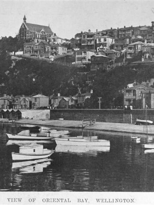 A view of Oriental Bay, Wellington. - Otago Witness, 3.3.1909.