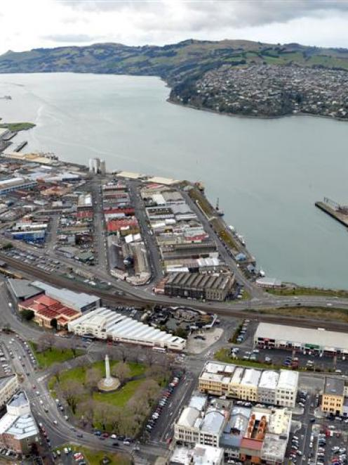 A view of the  Dunedin Harbour  Basin area  and beyond.  PHOTO: STEPHEN JAQUIERY
