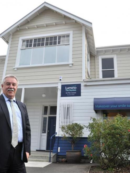 Abano Healthcare managing director Alan Clarke, of Auckland, outside Lumino the Dentist in Pitt...