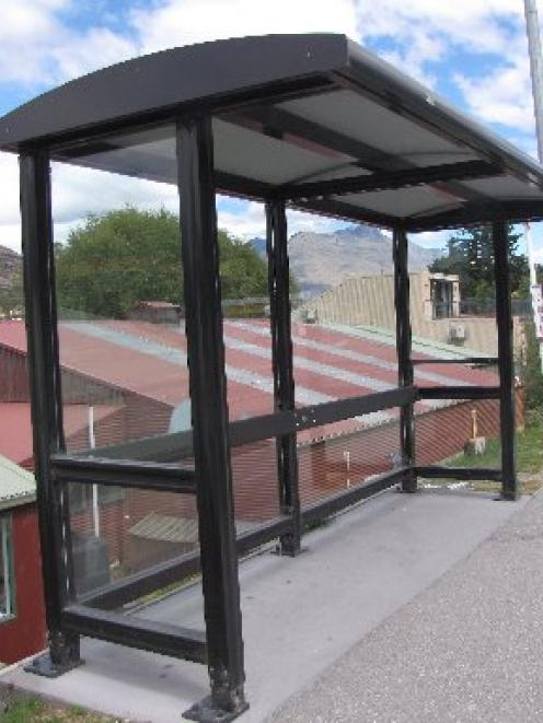 About 100 new bus shelters, similar to this one in Frankton Rd, in Queenstown, will be installed...