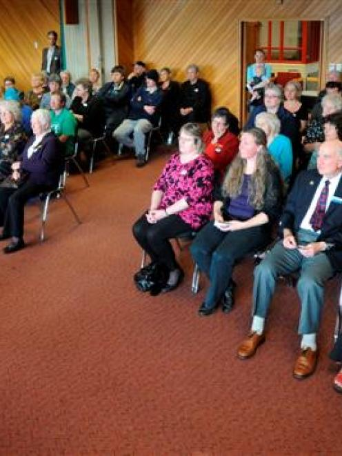 About 100 Otago volunteers are congratulated by Dunedin Mayor Dave Cull during the Mayor's...