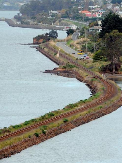 About 5500sq m of Otago Harbour will be reclaimed and the railway line realigned when the next...