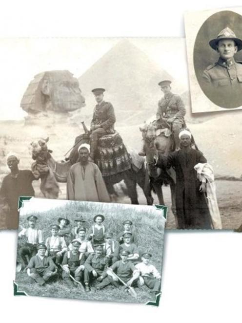 """Above: """"The Central Boys"""" somewhere in France, 1917. Pte James Kearney, from Ranfurly, is in the..."""