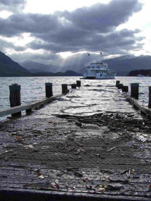 Above water, but for how long? Water levels at Lake Wanaka have receded to uncover the town's...