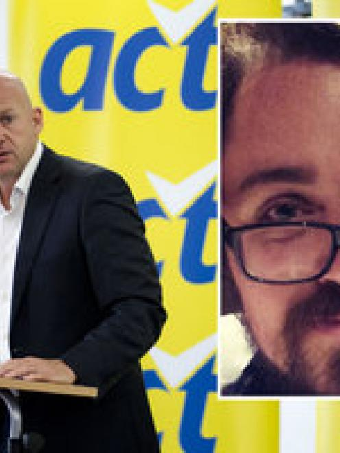 Act candidate Guy McCallum told student mag Critic he quit over his leader's 'stunt' comments...