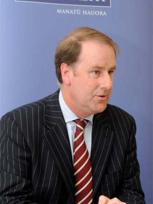 Acting Director-general of Health Andrew Bridgman speaking in Wellington on Wednesday.