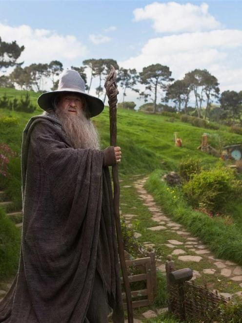 "Actor Ian McKellen, shown in a scene from ""The Hobbit: An Unexpected Journey"", says New Zealand..."