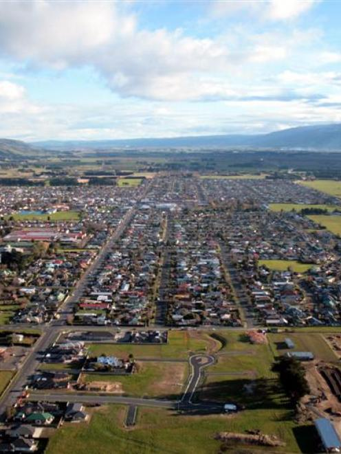 Aerial photograph of Mosgiel. Photo by ODT.
