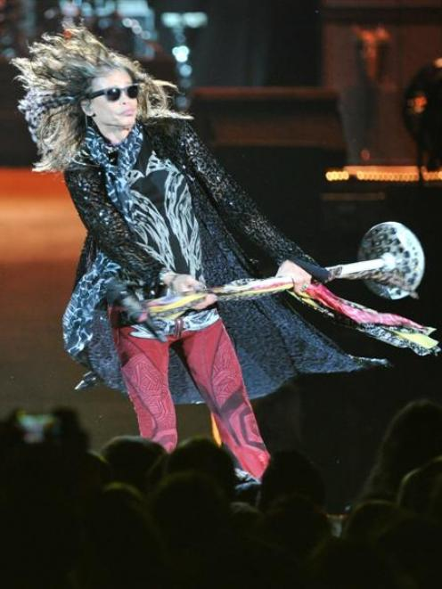 Aerosmith performing at the Forsyth Barr Stadium. Photo by ODT.
