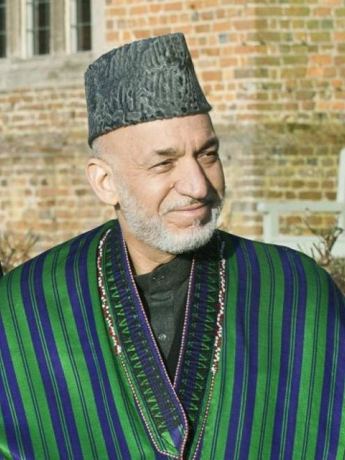 Afghan President Hamid Karzai. Photo Reuters