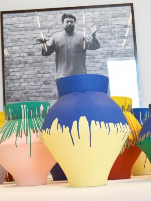 Ai Weiwei's 'Colored Vases' are shown at the Perez Art Museum in Miami, Florida. REUTERS/Zachary...