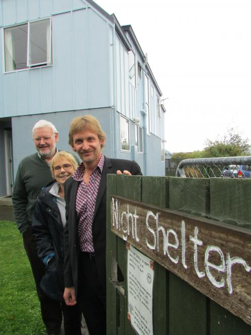 Aiming for independence . . . Dunedin Night Shelter Trust board members (from left) chairman Dave...