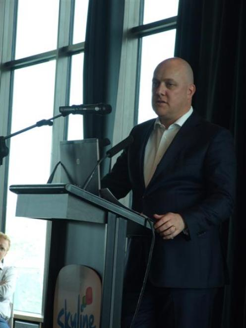Air New Zealand chief executive Christopher Luxon speaks at the Queenstown Chamber of Commerce...