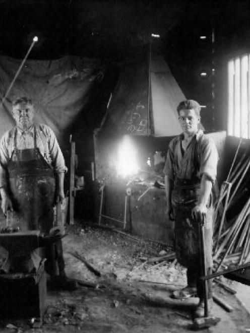 Alec  Love was the blacksmith for the Love construction company established by his brothers....