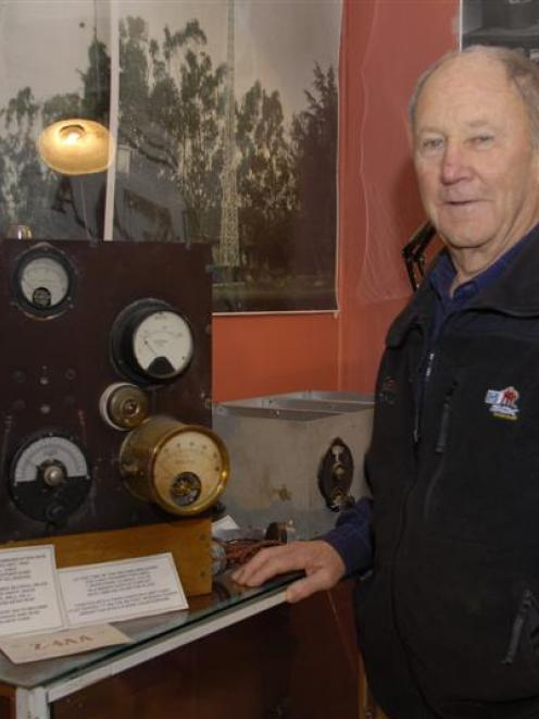Alf Bell, of Lake Hayes, with some of the equipment used in 1924 to transmit the first transworld...