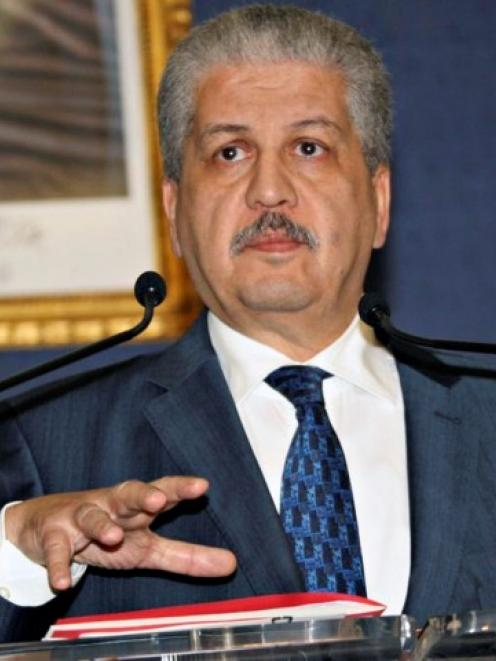 Algeria's Prime Minister Abdelmalek Sellal holds a news conference in Algiers at which he said 37...