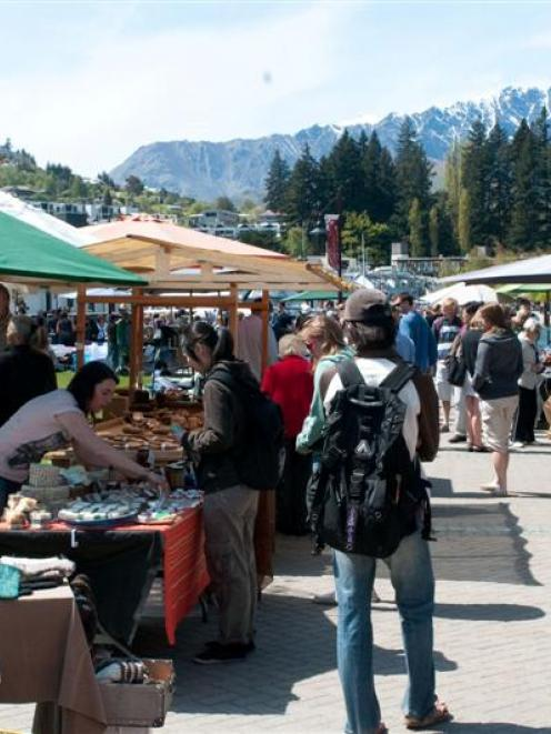 All three Queenstown markets, including the Creative Queenstown Arts and Crafts Market, pictured...